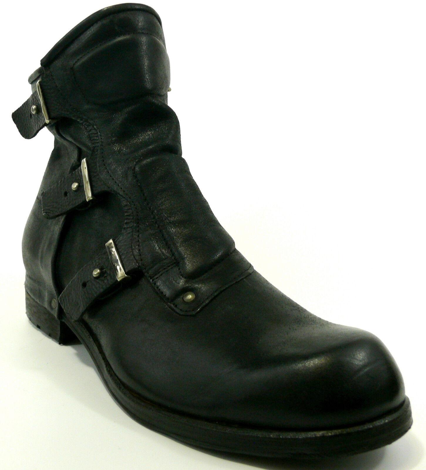 AIRSTEP A.S.98  Stiefel 46 LEDER Stiefel Schwarz Men Stiefelette Schuh NEU