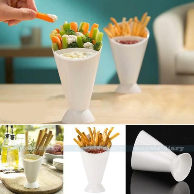 Chips Fries Salad Dipping Cone Serving Snack Sauce Holders Food Kitchen Utensil