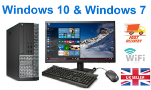 Rapide-Bon-Marche-Dell-HP-Core-i5-Ordinateur-de-bureau-Set-Complet-Pc-amp-TFT-16-Go-Windows-10-240