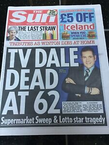 Dale-Winton-Obituary-Front-Page-Supermarket-Sweep-Newspaper-The-Sun-19-04-2018