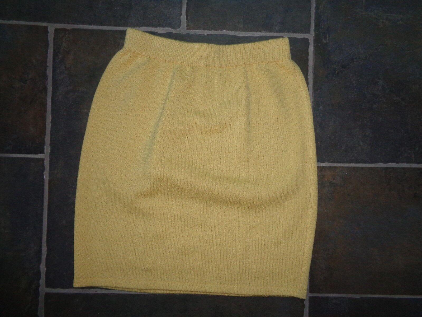 St John Collection Women's Size 2 Yellow Santana Knit Skirt