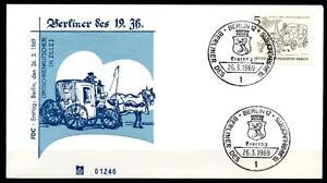 De Berlin Du Cabriolet Cocher Du 19jh. Fdc (1). W. Berlin 1969-her Des 19jh. Fdc(1). W.berlin 1969fr-fr Afficher Le Titre D'origine