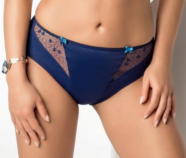 Slip Panty blau dunkelblau 40 42 44 46 Damen Unterwäsche Dessous Spitze