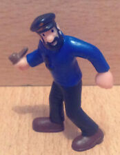 FIGURINE PVC SCHLEICH TINTIN KUIFJE HERGE 1985 LE CAPITAINE HADDOCK AVEC PIPE