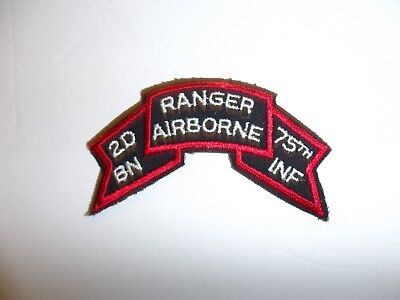 b5254 1980/'s US Army 2nd Battalion Ranger Airborne 75th Infantry Tab IR18C