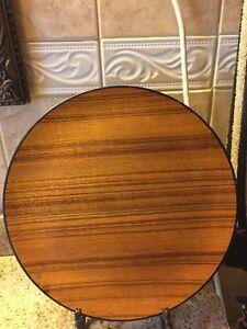 "OMC Teak Serving Platter/Tray Mid Century Modern Japan 14"" Diameter"