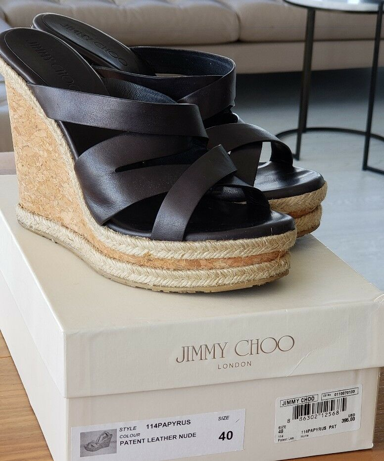 Jimmy Choo. Size 39 1 2 Patent Leather Nude