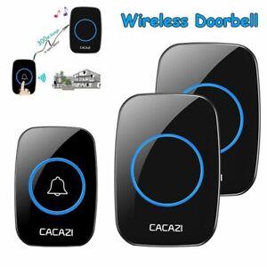 Receiver-LED-Indicator-Wireless-Doorbell-Smart-Door-Bell-Door-Chime-300M-Range