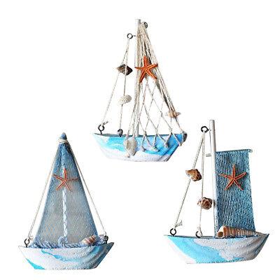 Details about  /Mediterranean Style Nautical   Net Sailing Wood Desktop Decor Ornament #4