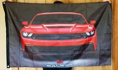 Ford Mustang Saleen 3/' X 5/' Polyester Flag Banner Man Cave Bar NEW 5.0 Cobra