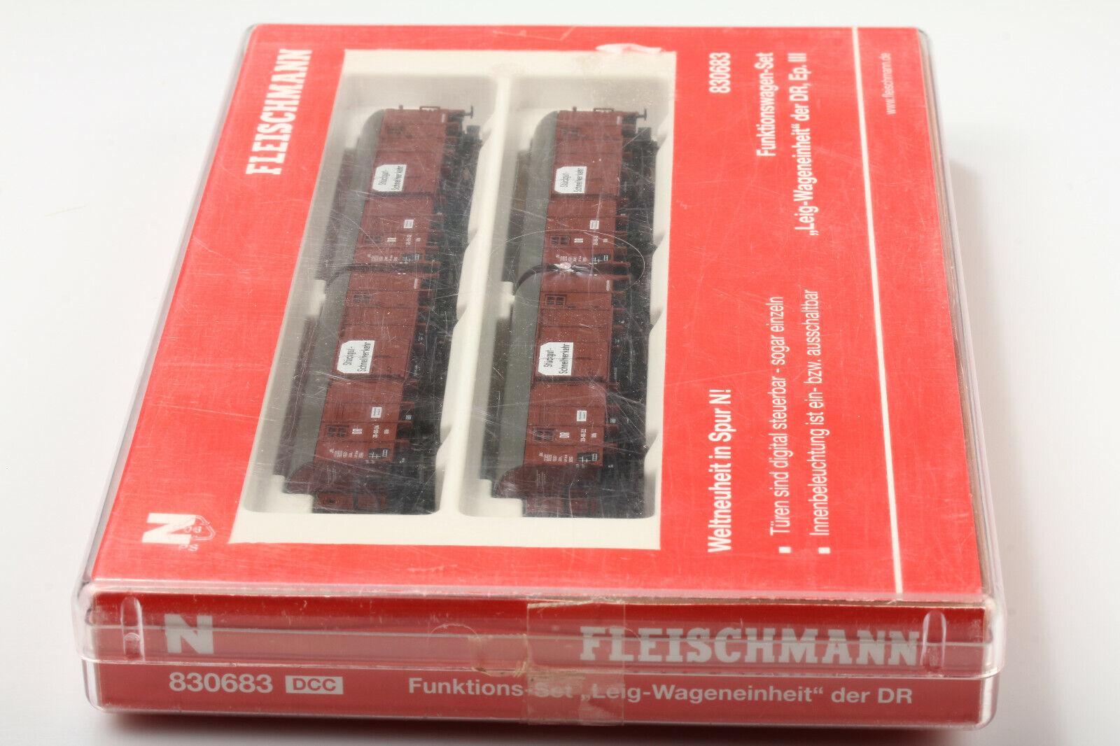 N Fleischmann Sabroso 830683 Funktionswagenset Dr   Leig Wageneinheit  con Ovp