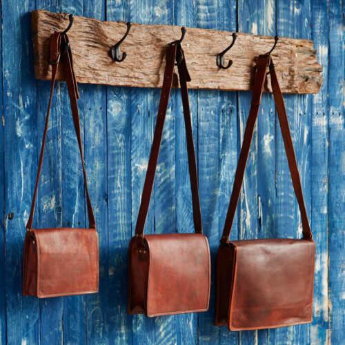 """17/""""Men/'s Genuine Leather Vintage Laptop Messenger Handmade Briefcase Bag Satchel"""