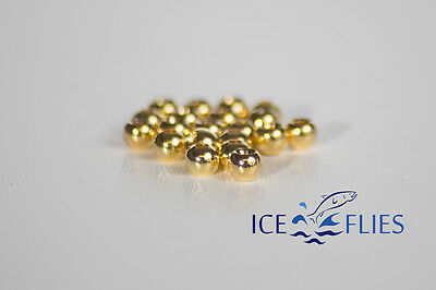 Silver 20 pcs ICE FLIES Bead head for fly tying 3,20 mm