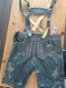 Men-039-s-Lederhosen-Size-36-Oktoberfest-Octoberfest-German-Leather-Trousers