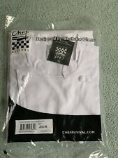 Chef Revival Mens Knife And Steel Jacket Cloth Button Sz Med Nwt