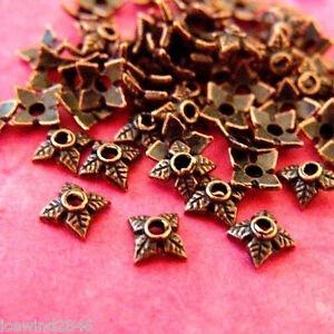 item ID YWXH00822AC 36 pcs Antique copper bead cap 6mm