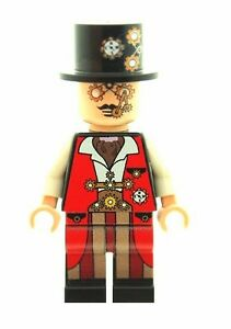 New Craze Steampunk Dude Custom Designed Minifigure Printed On LEGO Parts