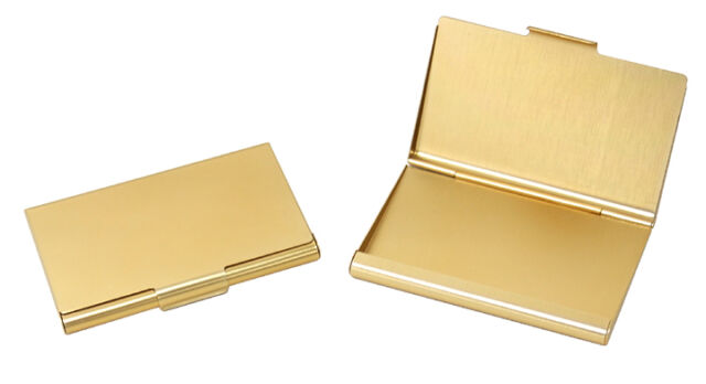 Tz case business card holder all metal pocket size 2 gold anc002g tz case business card holder all metal pocket size gold anc002g reheart Gallery