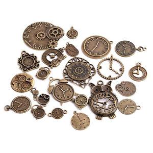 20pcs-Zinc-Alloy-Mixed-Clock-Pendant-Charms-Steampunk-Time-Clock-Charms-Fashion