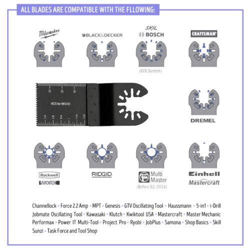 68Pcs Multi Oscillating Kit For Fein Dewalt Makita Milwaukee Multitool Saw Blade