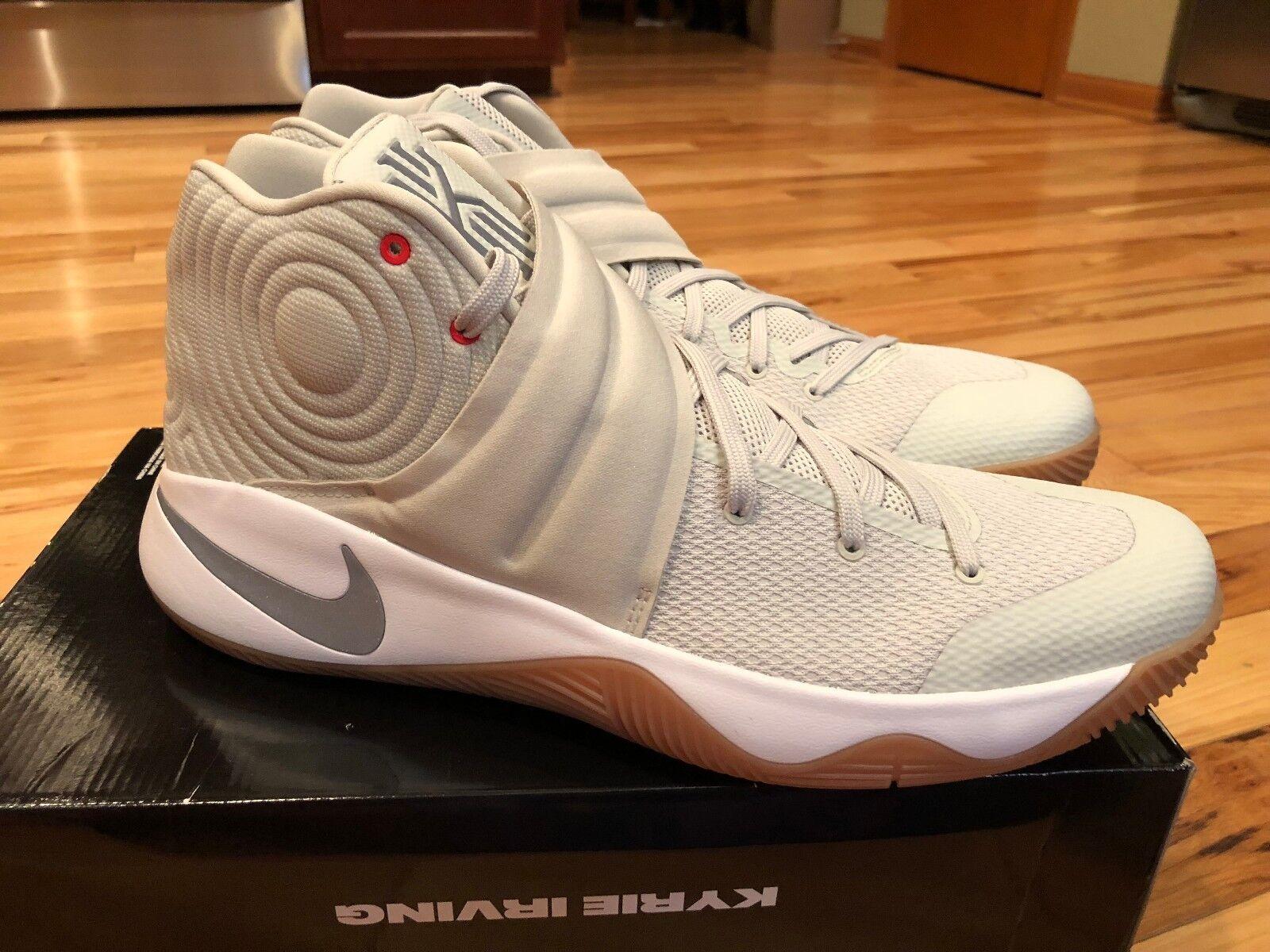 dbe055b3ad93 Nike Kyrie 2 Summer Pack II Men Basketball Shoes Light Bone Silver ...