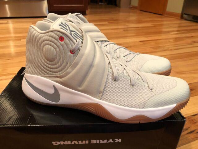 5f85851e6ec7 Nike Kyrie 2 Summer Pack II Men Basketball Shoes Light Bone Silver ...