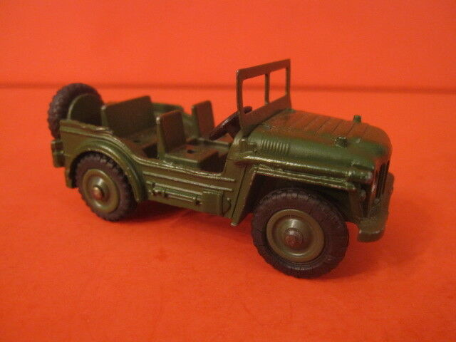 Vintage DINKY TOYS militaire 674 Austin Champ Plastique Roues et roues motrices