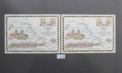(2466.5) Brd Und Berlin 1990 - 500 Jahre Postverbindungen: 2x Mi.nr. 1445+860 Dauerhafter Service