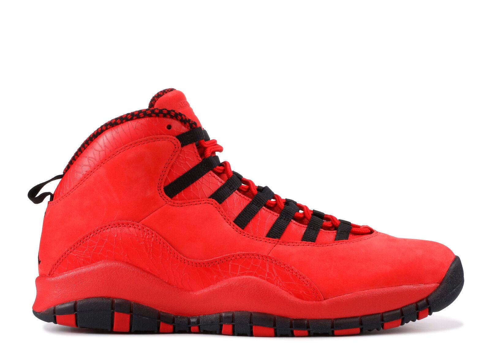2018 Nike Air Jordan 10 X Retro HOH Steve Wiebe Red Black Size 8. AJ9100-625