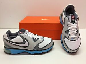 9cdc1e5a7a1 Nike Air Compete TR Running Gray White Blue Training Sneakers Shoes ...