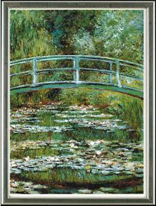 Claude-Monet-1840-1926-Nymphenbruecke-gerahmt