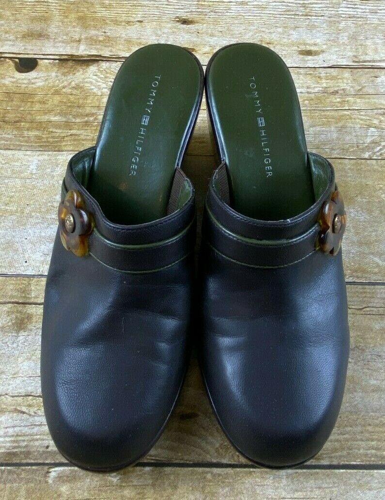 Tommy Hilfiger Hydrangea Dark Brown Mule Wedges C… - image 2