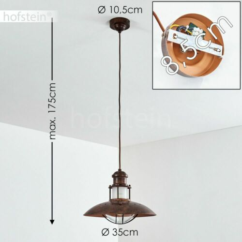 Rétro Pendule Suspendu Lampes rostfarbene ESS salon chambre salle éclairage
