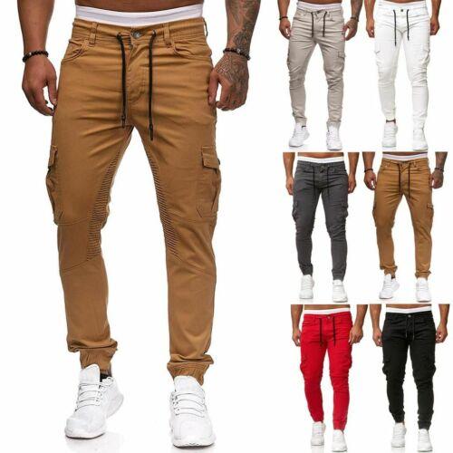 Mens Sport Pants Long Trousers Tracksuit Gym Slim Fit Workout Joggers Sweatpants