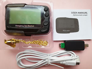Programmable-Alphanumeric-Pager-POCSAG-Pager-Emergency-text-Receiver-and-Cable