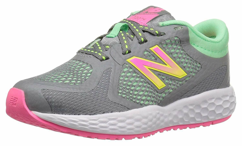 Grey//Pink 11.5 Medium US Little Kid New Balance Girls/' KR680 Running Shoe