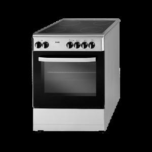 Cocina SVK6604VX 4 fuegos vitrocerámica horno eléctrico Luz 86 x 59,8 x 61 cm
