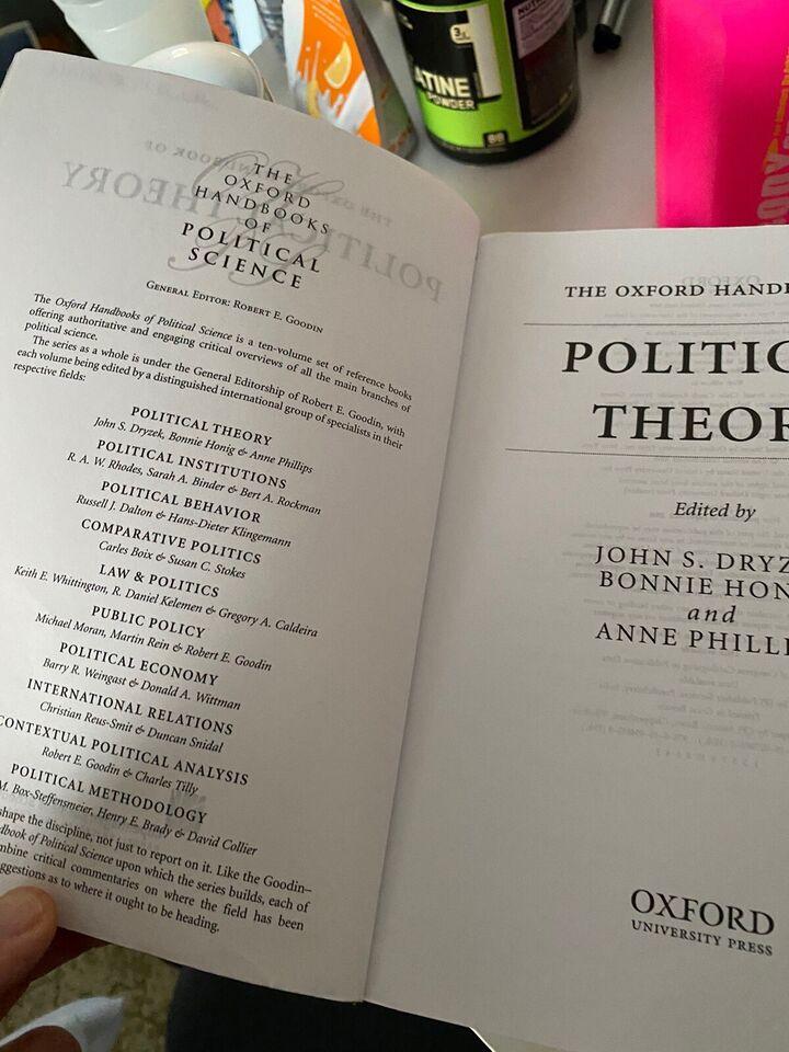 The Oxford handbook of political theory, John Drysek,