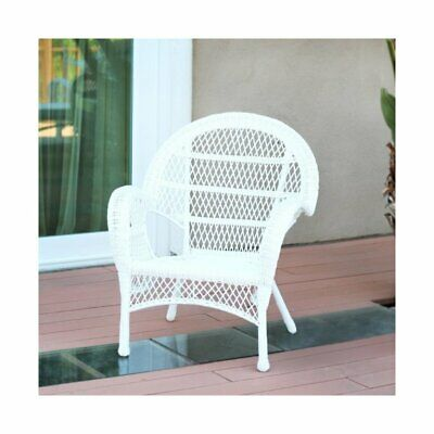 Jeco Wicker Chair in White