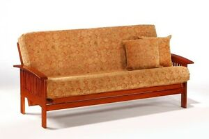 Details About Futon Frame Solid Wood Ruskin Futon Sofa Bed Frame Full Or Queen Size