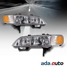 1994 1995 1996 1997 Honda Accord Left Right Side Headlights Lamps Pair