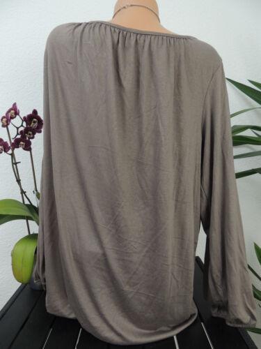 Damen Sweatshirt Größe 46 48 50 52 Übergröße Bluse Blusen Shirt Langarm 78