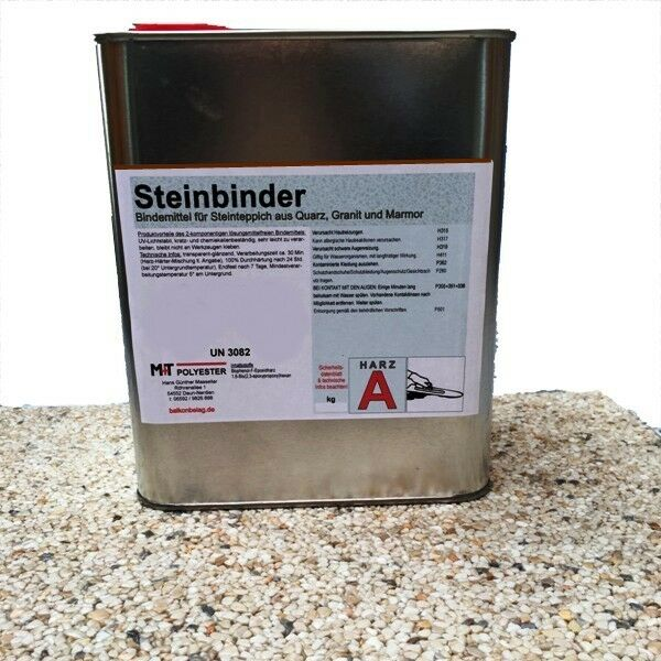 2 X 1,2 kg Bindemittel Steinteppich 2K Absolut Steinbinder für Marmor