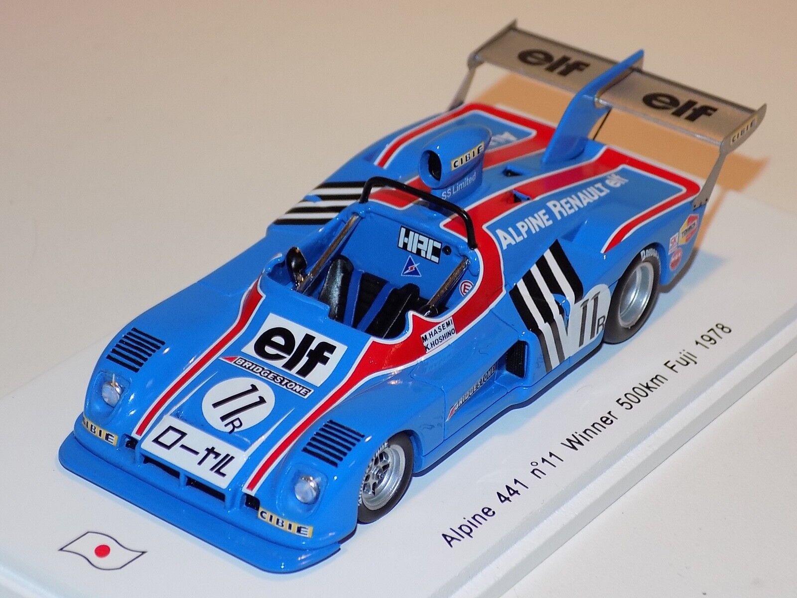 1 43 Spark Alpine 441  Car  11 Winner 500KM of 1978 Fuji  SJ009