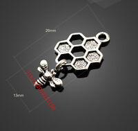 PJ654 10pc Retro Tibetan Silver( bees )Jewelry Accessories wholesale