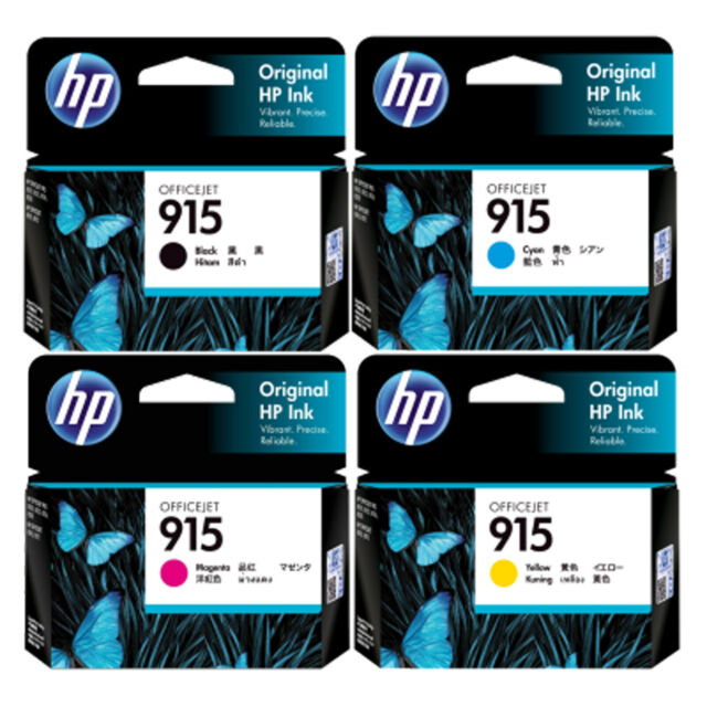 GENUINE Original HP 915 4 Colours Value Pack Ink Cartridge Toner Officejet