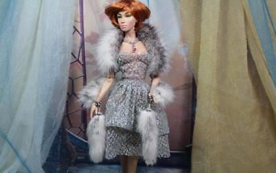 ~Dark Brown Real Mink Fur Boa for Silkstone Barbie FR Sybarites KD doll~dimitha~