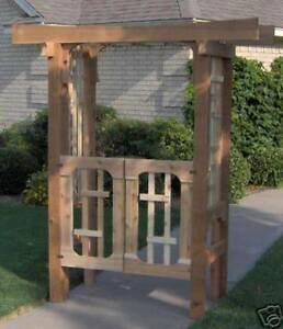 Details About New Deluxe Japanese Style Cedar Garden Arbor Pergola With Gate