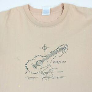 Vtg-2K-Grayson-Highlands-Wayne-Henderson-Music-Festival-T-Shirt-Fade-Distress-XL