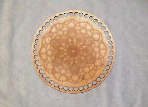 Crochet Base  5X DESIGNED Lid //top 5x17CM circular сrochet basket base